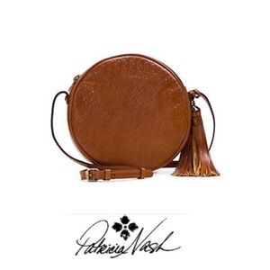 NWT Patricia Nash Brown Leather Zipped Crossbody